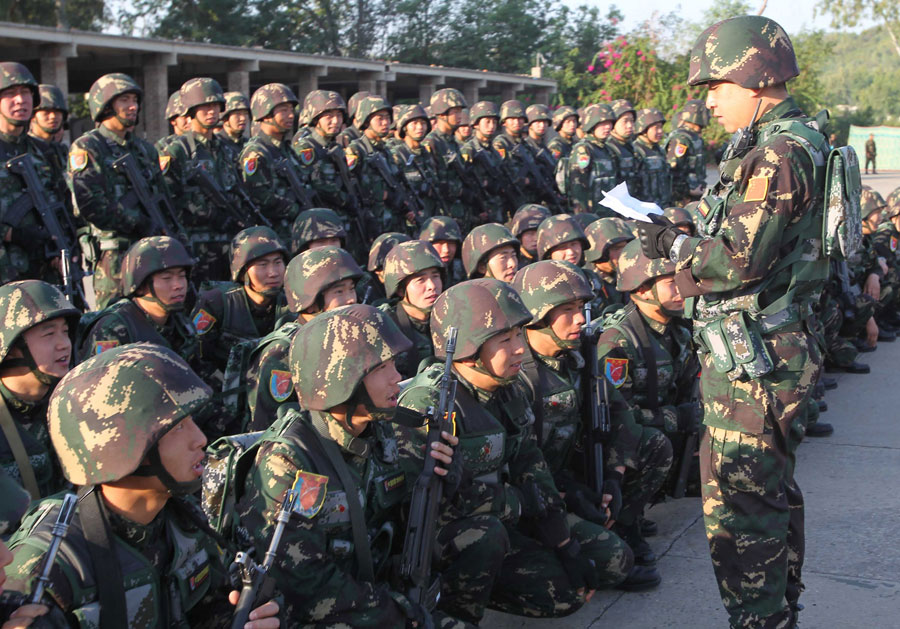 PLA Type 03 Special Forces DPM uniform Chine-27