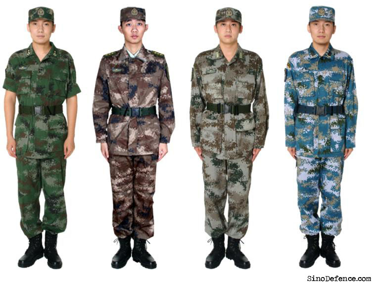 Chinese Type 07 digital urban camo polyester dress shirt & trousers Chine211