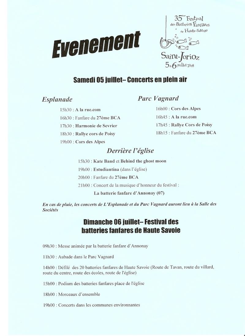 Festival des BF de Haute-Savoie le 5 et 6 juillet à St Jorioz ! Numeri10