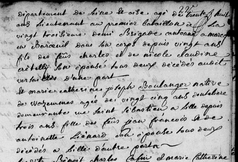 ar gr pére de mon ar gr mére paternel capitaine au 67 éme de Ligne en 1806 Acte_d13