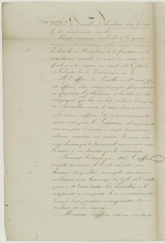 ar gr pére de mon ar gr mére paternel capitaine au 67 éme de Ligne en 1806 Frdafa11