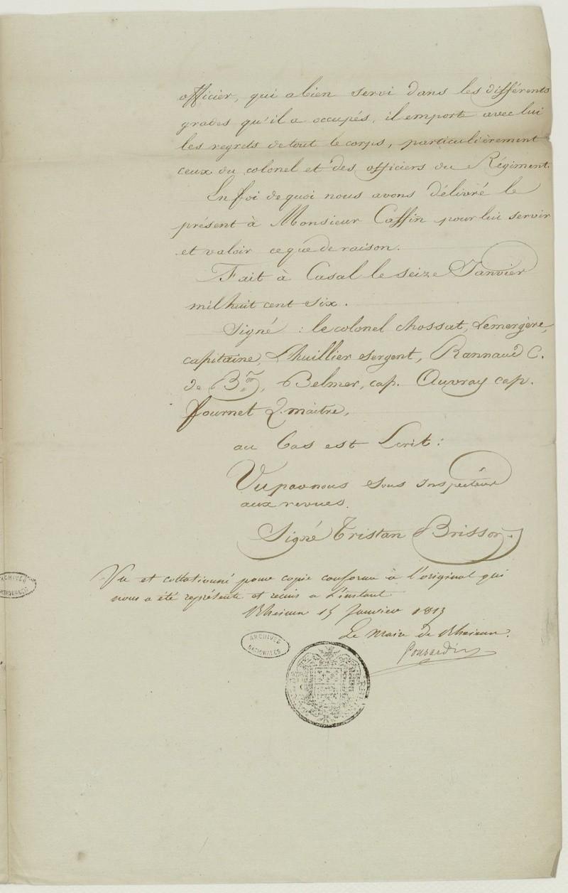 ar gr pére de mon ar gr mére paternel capitaine au 67 éme de Ligne en 1806 Frdafa12