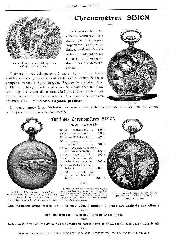 Zenith et les poilus ... Les toutes premières montres bracelets de Zenith Simon-10