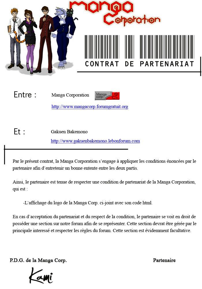 Partenariat Manga Corp. Gakuen10