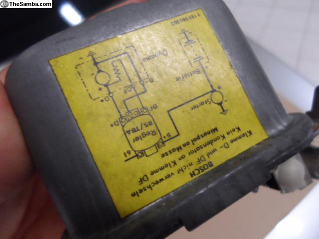 Etiquette sur régulateur dynamo lowlight 70593212