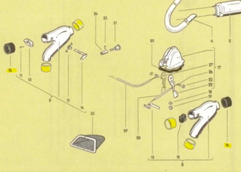 Caoutchoucs de raccord de tube de mélange des volets d'air Captur17