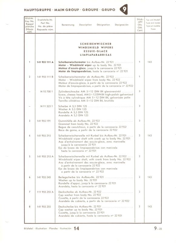 Moteur d'essuie glaces 56-57 Mg9-2510