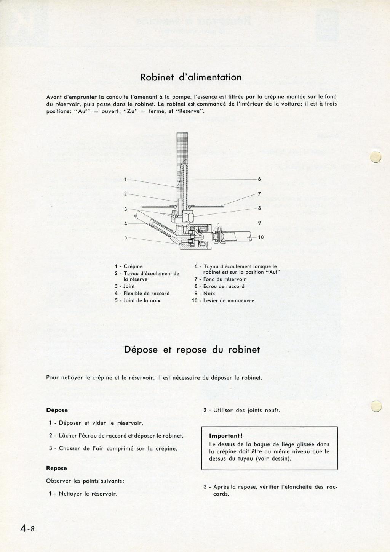 Mise en place d'un robinet de réserve d'essence Page_414