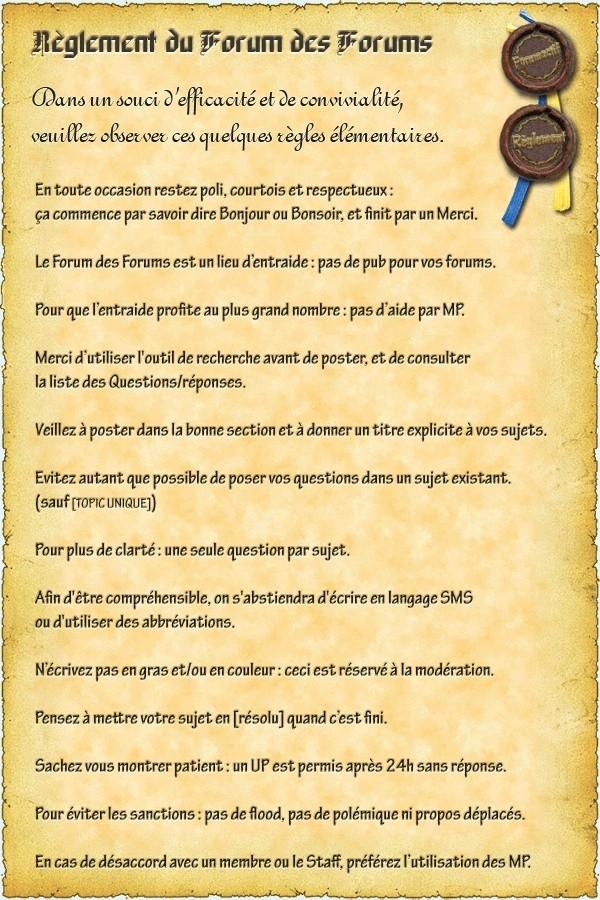 LE REGLEMENT # Reglef10