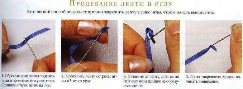Вышивка  лентами (краткое руководство) 00510