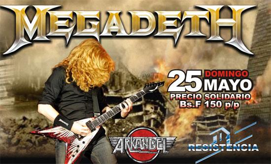 Las entradas para Megadeth ya están a la venta Entrad10