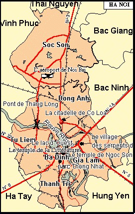Hanoi, capital du Vietnam Carte_10