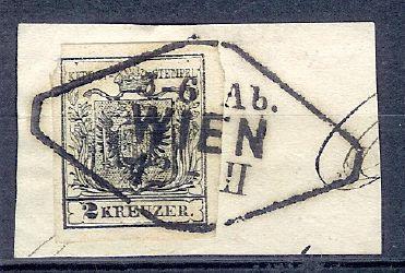 Wien-Stempel von 1850 bis 1858 2kreuz11
