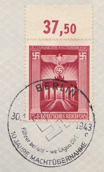 Belege / Sonderstempel Deutsches Reich 1943 Drsost10