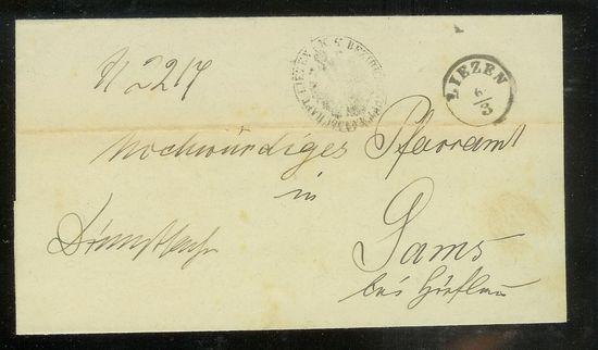 Vorphilatelie Österreich  -   Briefe aus der Vormarkenzeit Pfarra10
