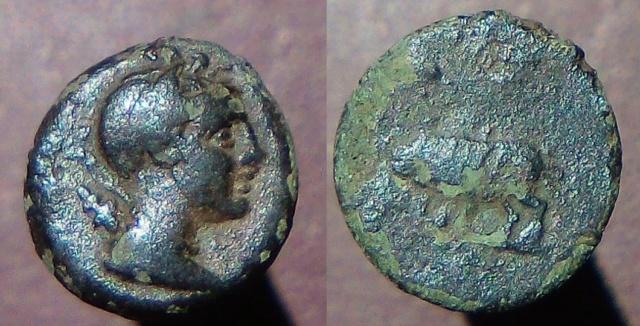 Petit bronze à Artemis. Grec ? Provincial ? Artemi11