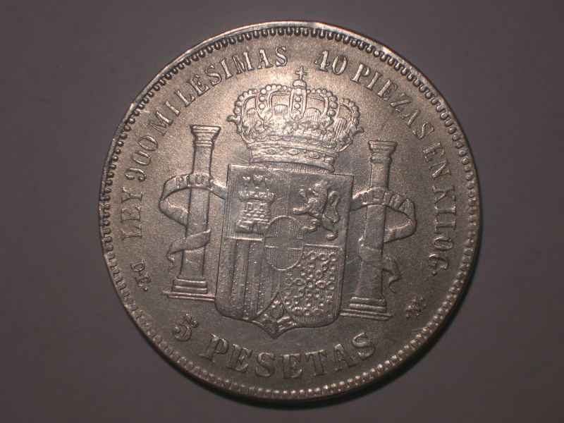 5 Pts Amadeo I (Madrid, 1871 d.C) Resello GP ¿Falsa? Dscn2418