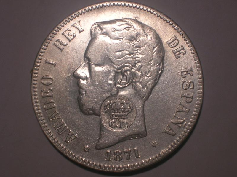 5 Pts Amadeo I (Madrid, 1871 d.C) Resello GP ¿Falsa? Dscn2419