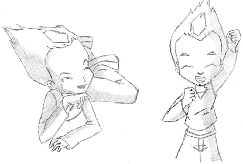 Mis dibujos... Aunque solo el Shaoran es de Clamp!! Odd10