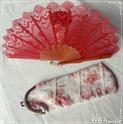Mon éventail en soie rouge Bourse10
