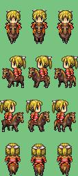 Personnages sur cheval Actor111