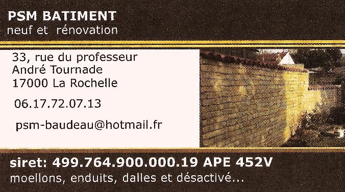 P.S.M-Bâtiment (la rochelle 17) Carte_12