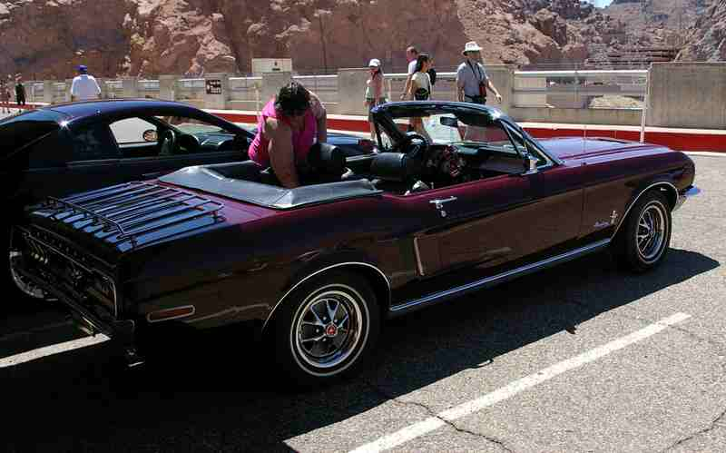 Mustang Club of Las Vegas Hoover dam 2008 exhibition Cabrou10