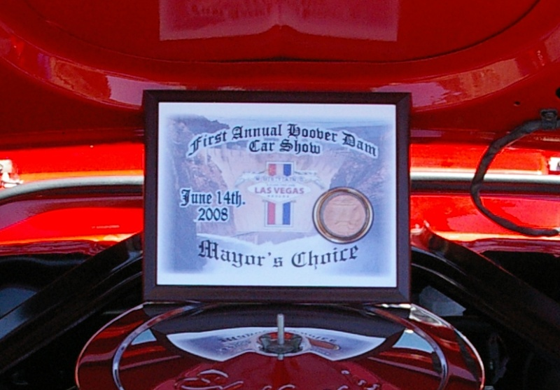 Mustang Club of Las Vegas Hoover dam 2008 exhibition Certif10