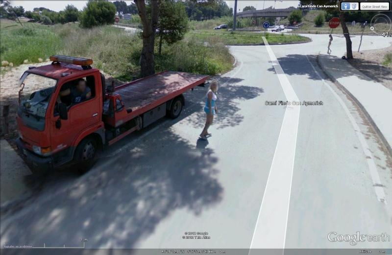 STREETVIEW: faire du stop:l'explication, Castelldefels, Espagne Depann10