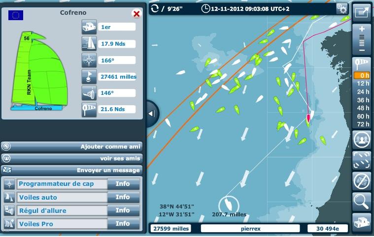 "Les vacations radio du ""Virtual Regatta Vendée Globe"" 2012 Portug10"