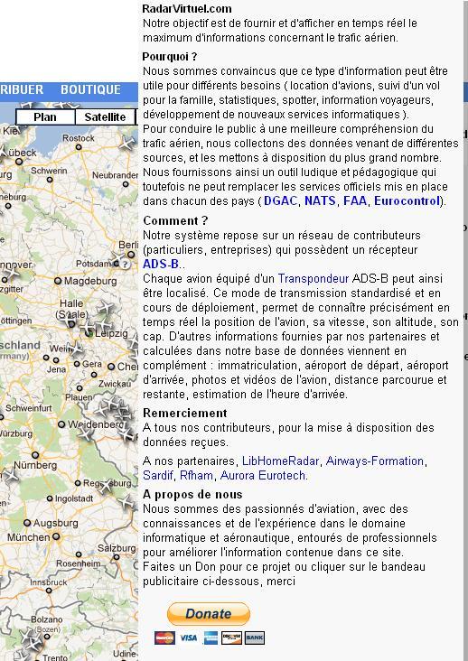radarvirtuel.com/Flightradar24.com : tous les avions en vol en direct sur une carte Radarv11
