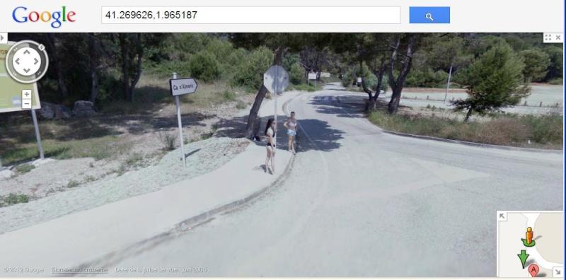 STREETVIEW: faire du stop:l'explication, Castelldefels, Espagne Stop10