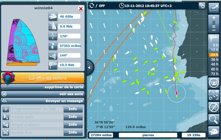 """Les vacations radio du """"Virtual Regatta Vendée Globe"""" 2012 Winnie10"""