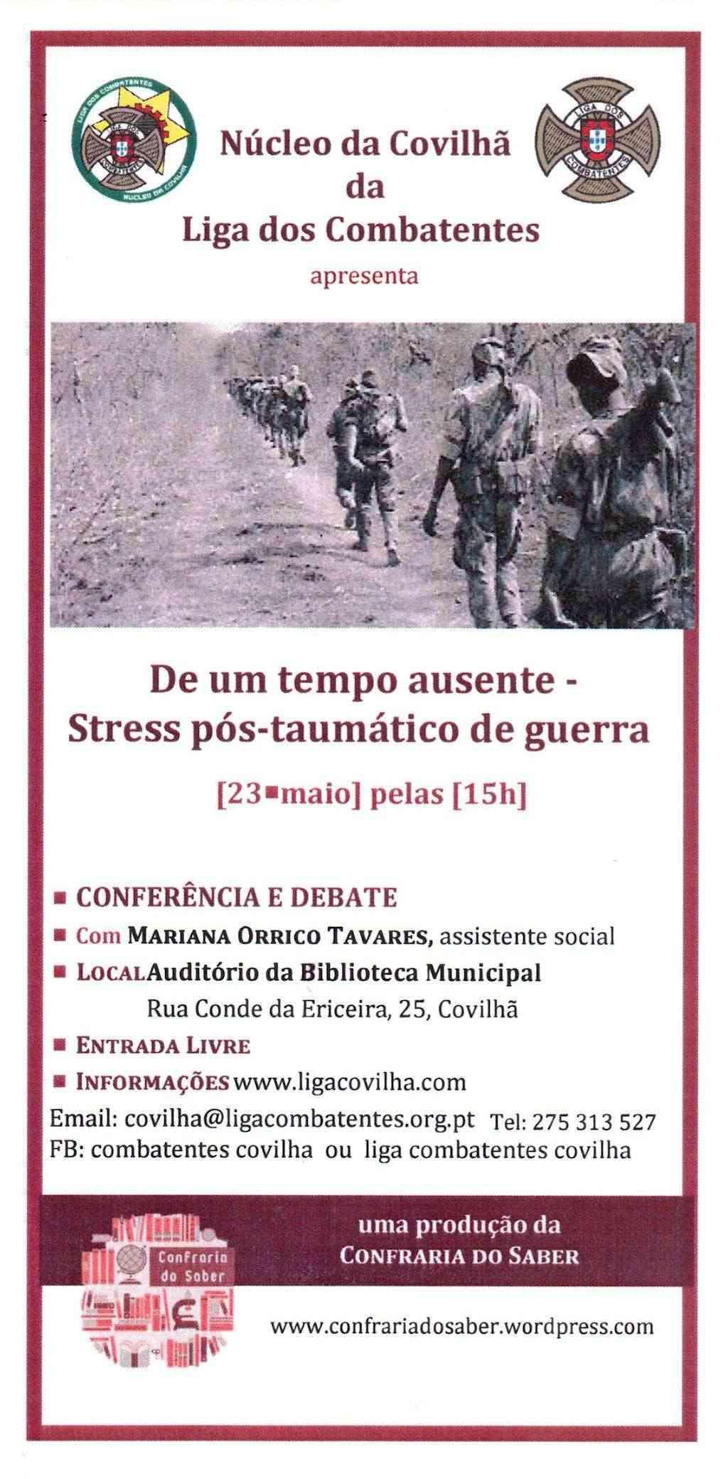 """Conferência e Debate: """"De um tempo ausente - Stress pós-traumático de Guerra"""" Covilhã 23Mai2012   00210"""