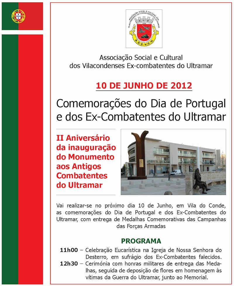 Vila do Conde: Comemorações do Dia de Portugal e dos ex-Combatentes do Ultramar 10Jun2012  10jun210
