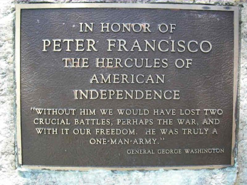 Pedro Francisco - Herói da Guerra da Independência dos Estados Unidos da América Att00014