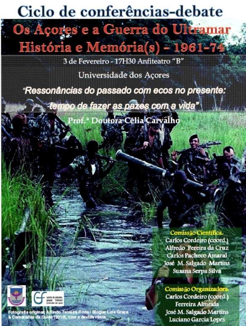 """03Fev2012: """"Os Açores e a Guerra do Ultramar - História e Memória (s) 1961 - 1974"""" Cartaz10"""