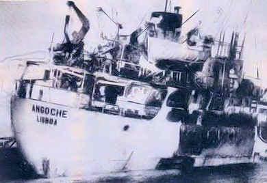 """«O navio """"Angoche"""" partiu de Nacala, em 23Abr1971, mas nunca chegou a Porto Amélia» Navio10"""