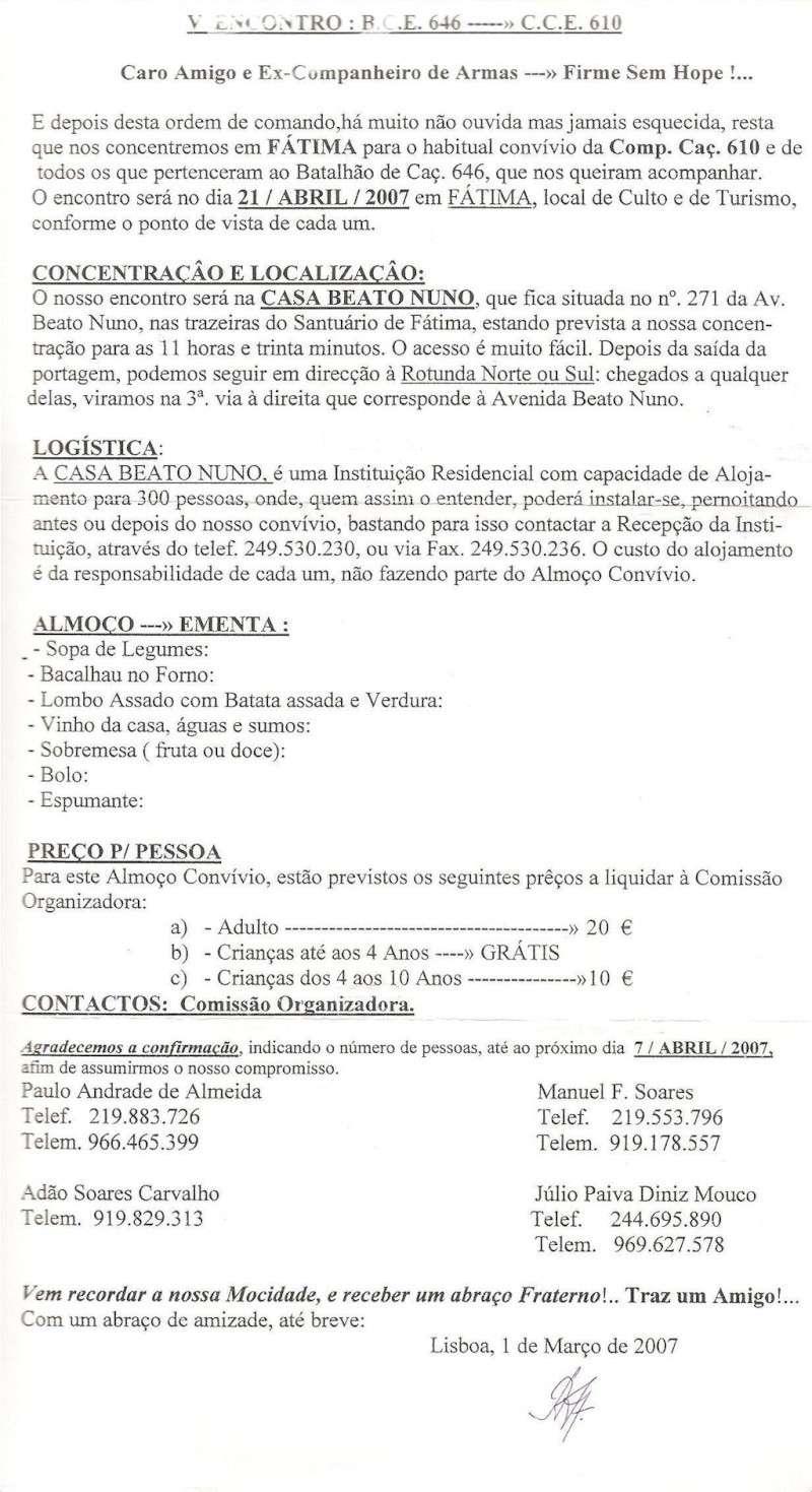 Os eventos da Companhia de Caçadores 610/BCac646 Angola 1964/1966 Va_fat10