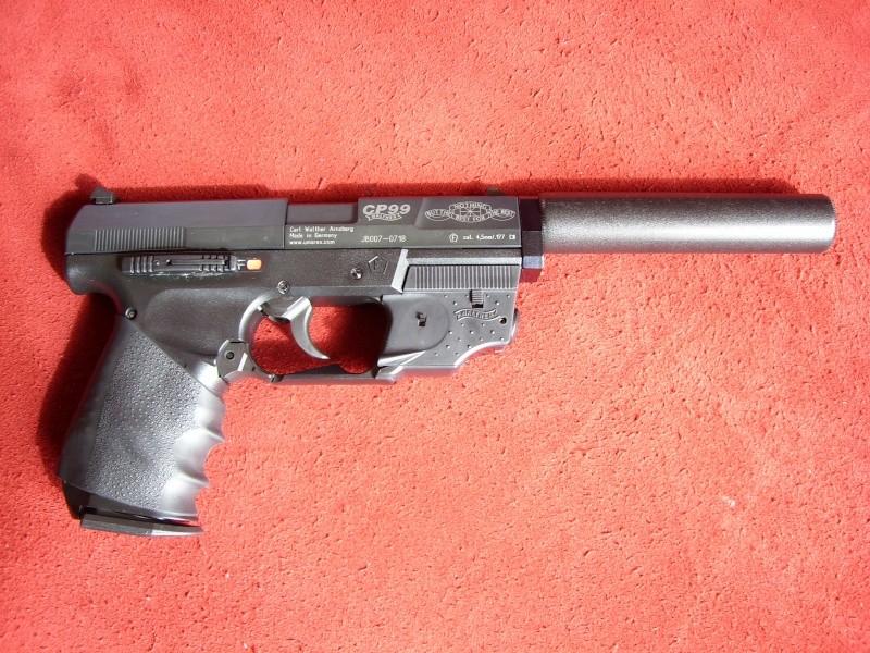 Les pistolets Co2 qui peuvent être équipés d'un silencieux Sl700110