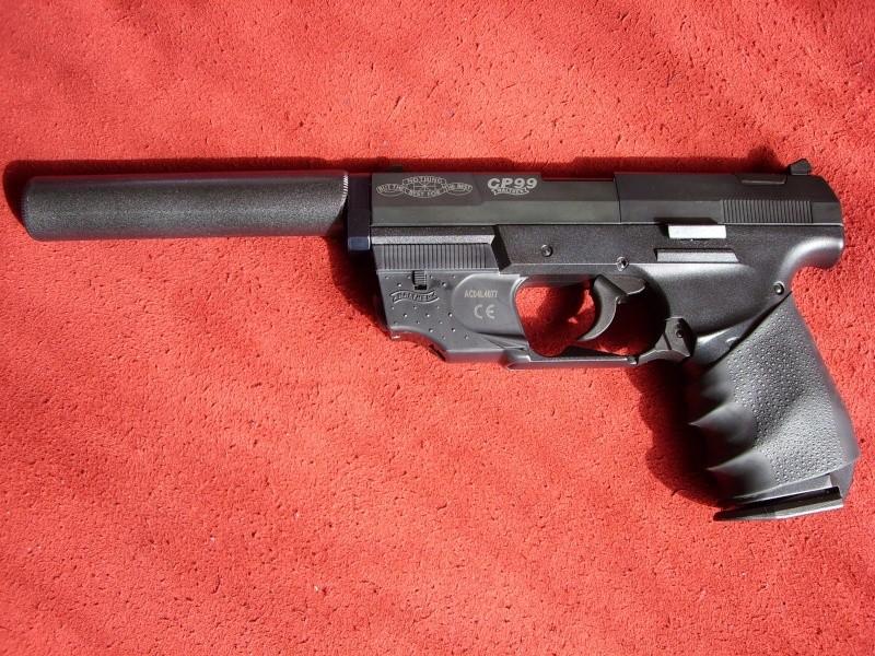 Les pistolets Co2 qui peuvent être équipés d'un silencieux Sl700111