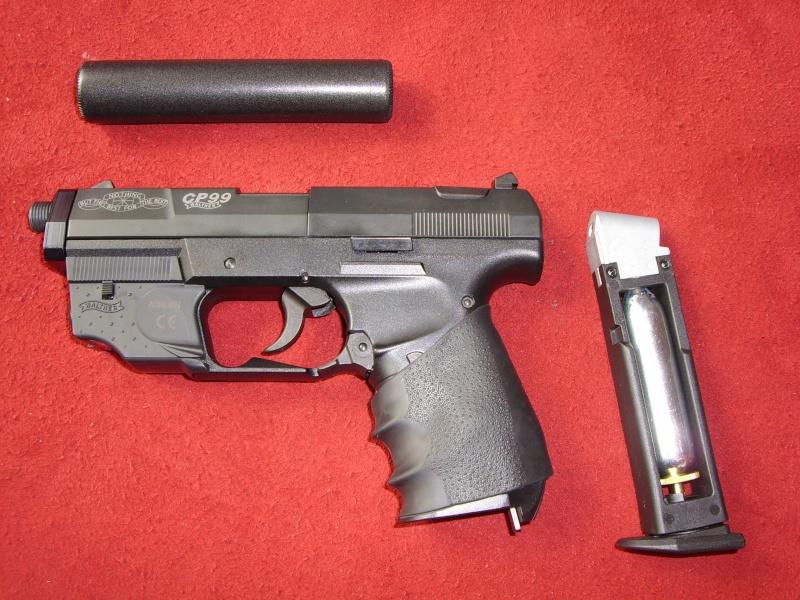 Les pistolets Co2 qui peuvent être équipés d'un silencieux Sl700112