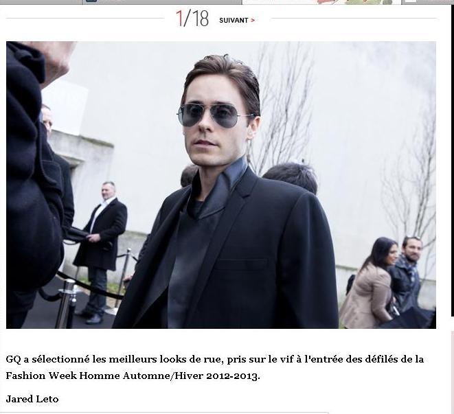 Jared Leto @ défilé Dior / Paris - 21 janvier 2012  - Page 2 Gq10