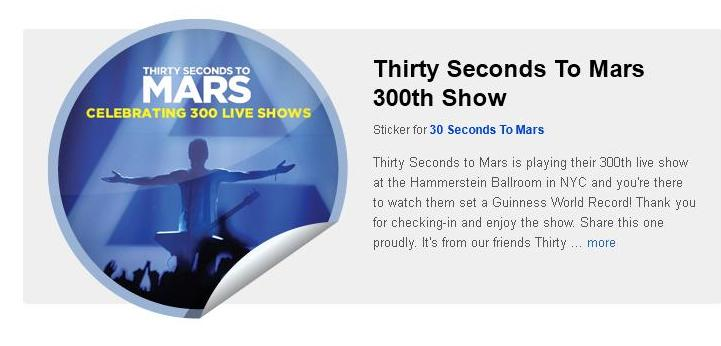 Getglue : gagnez des stickers 30 seconds to mars - Page 8 Mars3010