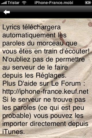 Nouvelle Application Lyrics Snap_222