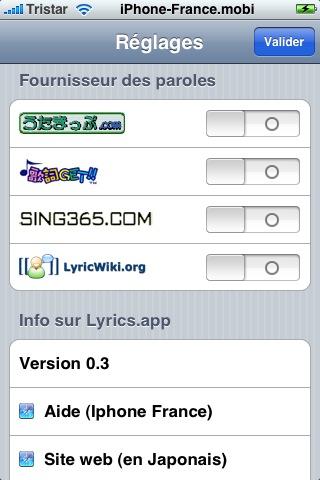 Nouvelle Application Lyrics Snap_223