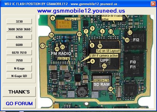 Wd2 Flash IC positions Wd2dd810