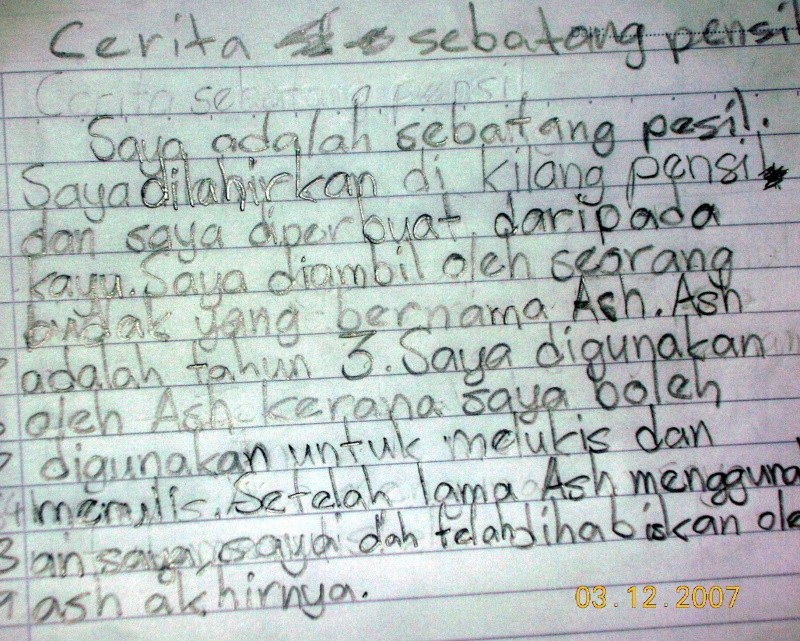CONTOH KARANGAN - Cerita Sebatang Pensel - Page 2 Karang10