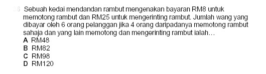 PMR - Mathematics Question no.5 Pmr_ma14