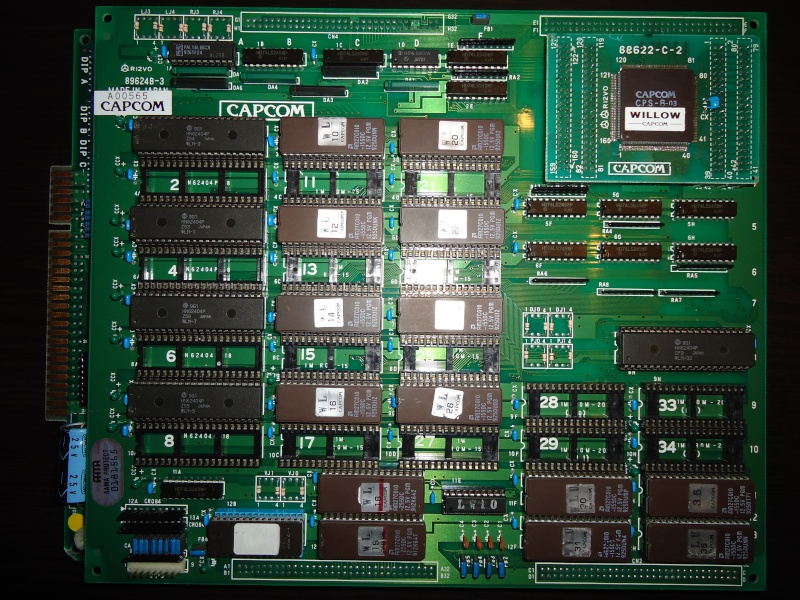 [ Pcb CAPCOM ] Pre-cps - CPS1 - CPS Q-Sound Willow10